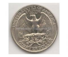 Продам 6 монет Монета Liberty Quarter Dollar США