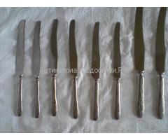ножи с рисунком на лезвии и вилки винтаж СССР