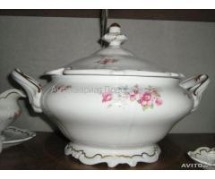 Чайно-столовый сервиз из 47 предметов антиквариат Веймарский фарфор (Германия) 1946 г.