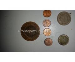 20 копеек 1915 г серебро, 10 копеек 1885 г серебро