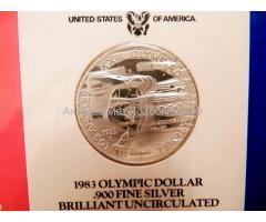США. Набор из 3 монет 1983 года.  Серебро