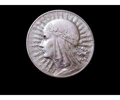10 злот 1932г серебро. Польша.