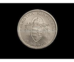 Венгрия 5 пенго 1938 год серебро