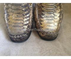 Туфли женские кожанные, змея